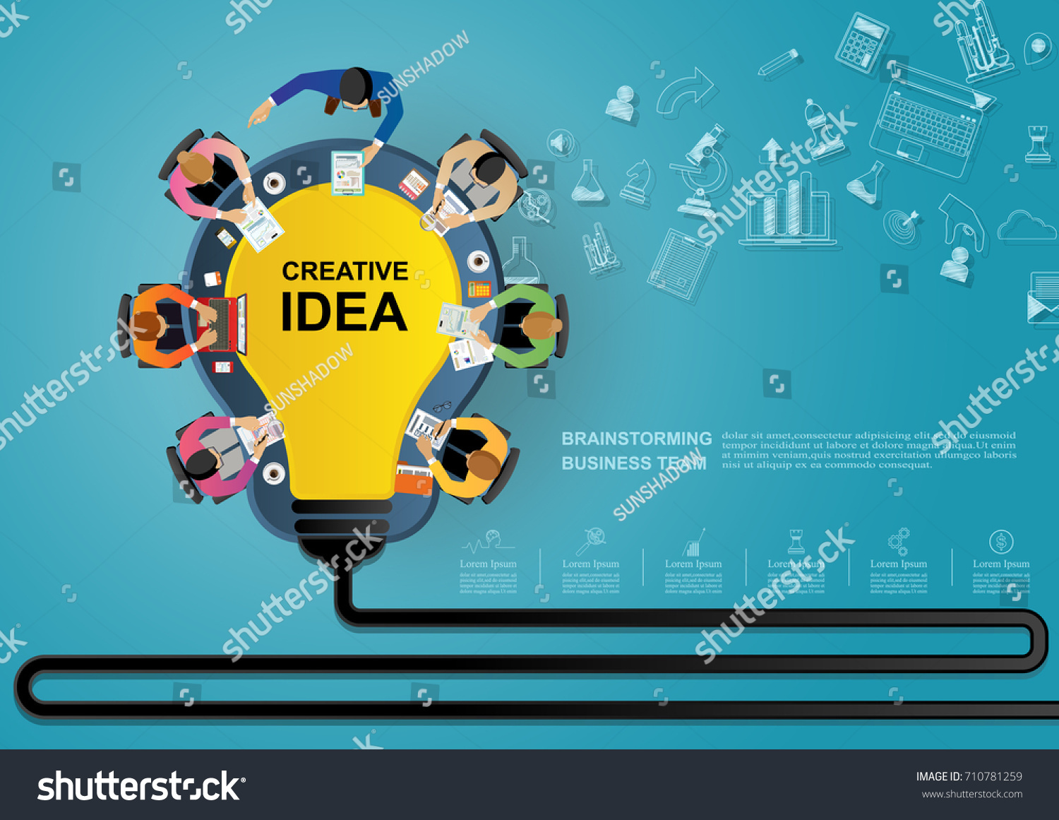 Business Meeting Brainstorming Idea Business Concept Stock