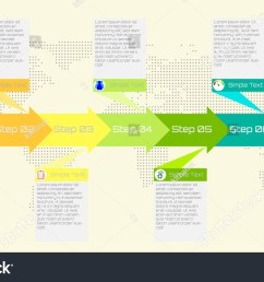 business or process timeline infographics with icon options and flow diagram vector eps10 illustration [ 1500 x 951 Pixel ]