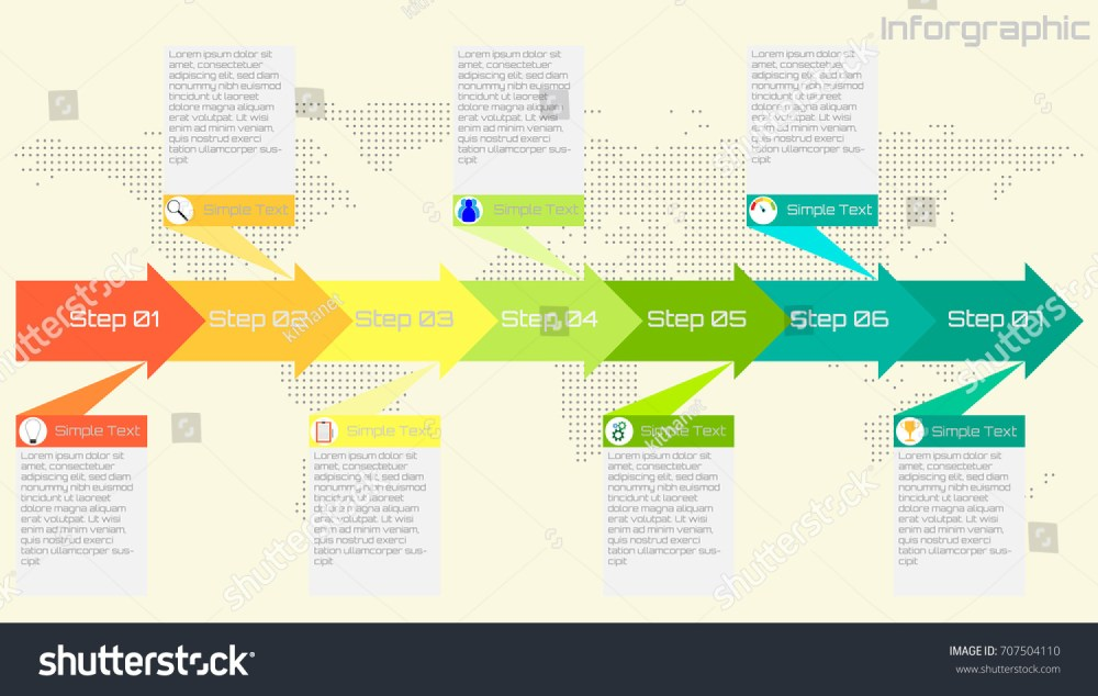 medium resolution of business or process timeline infographics with icon options and flow diagram vector eps10 illustration