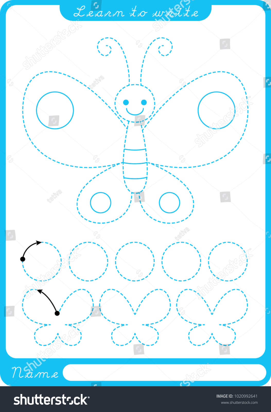 Erfly Tracing Preschool Worksheets Erfly Best Free Printable Worksheets