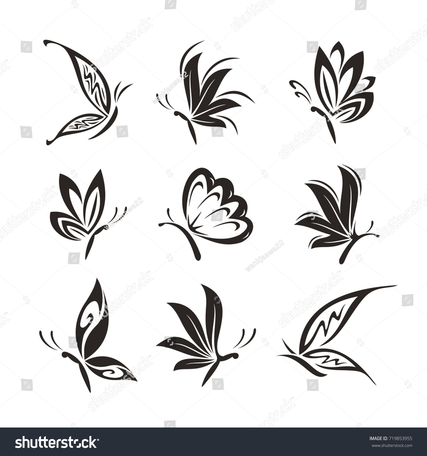 Butterfly Template Logo Vector Eps 10