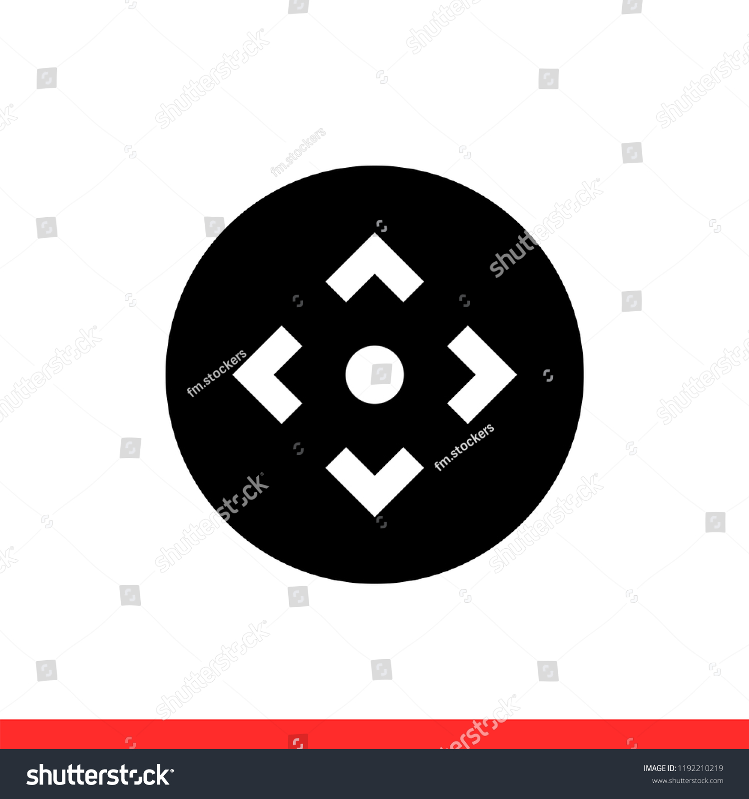 hight resolution of camera control vector icon remote symbol simple flat design for web or mobile app