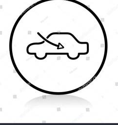car airflow button symbol b w version [ 1355 x 1600 Pixel ]