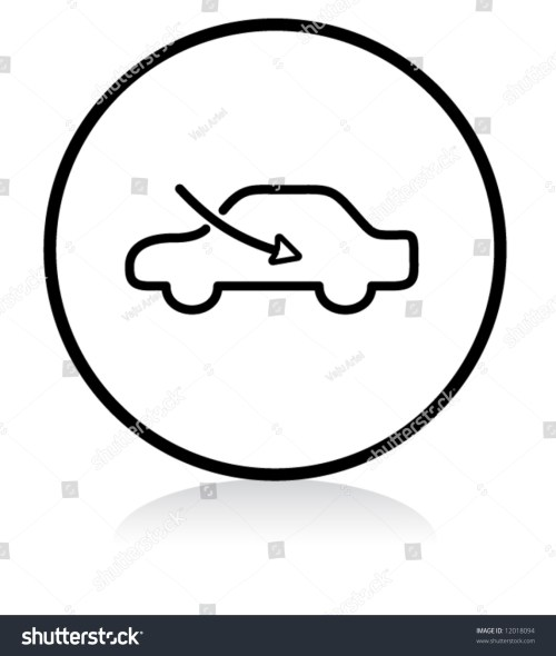 small resolution of car airflow button symbol b w version