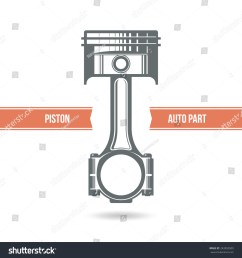 car engine piston color print on a white background [ 1500 x 1600 Pixel ]