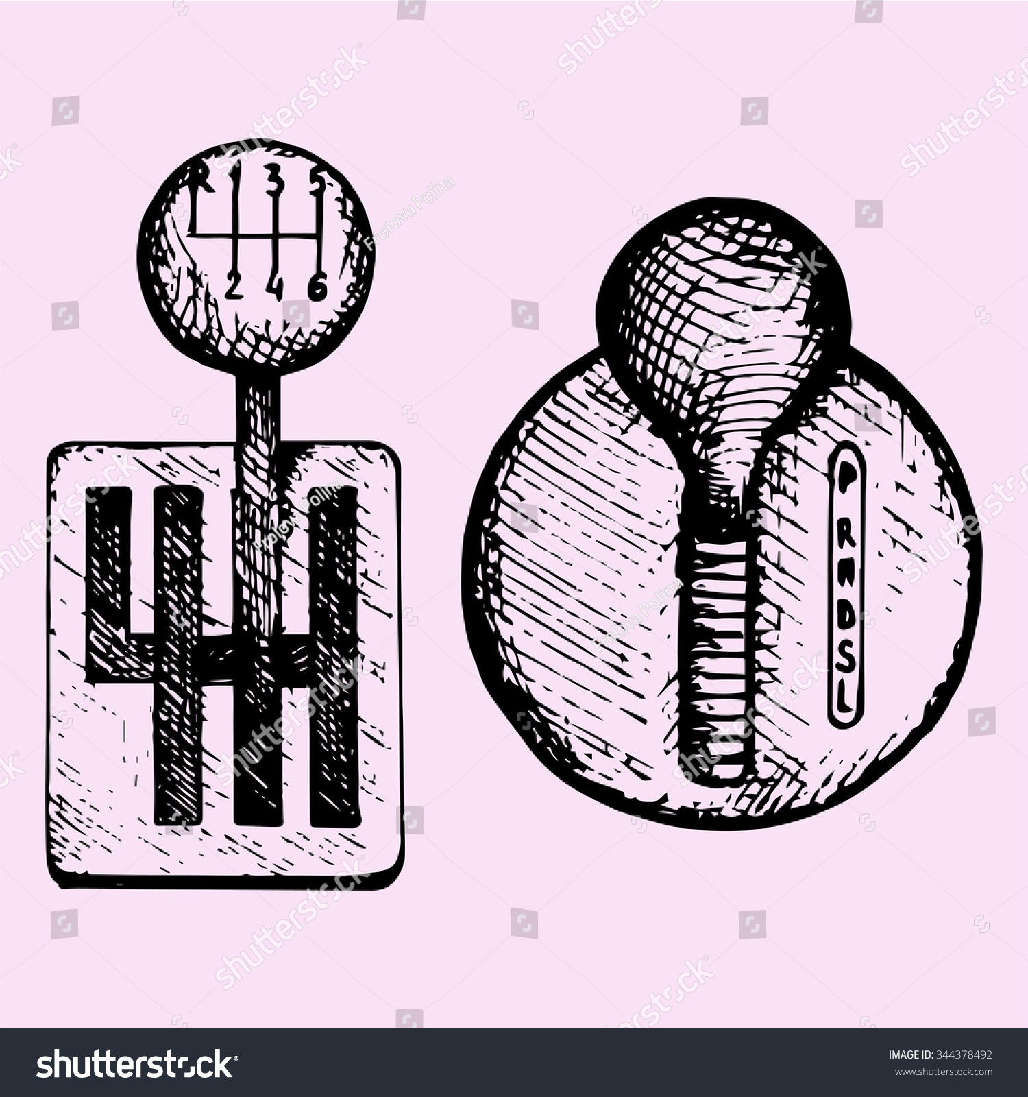 hight resolution of car gear stick doodle style sketch illustration hand drawn vector