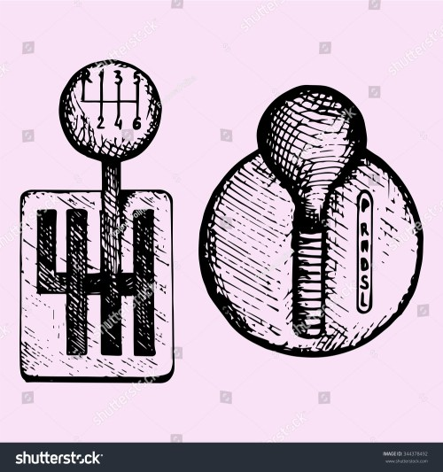 small resolution of car gear stick doodle style sketch illustration hand drawn vector