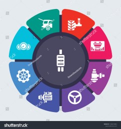 car parts vector template for infographics business concept with 9 options steps parts  [ 1500 x 1600 Pixel ]