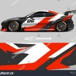 Car Wrap Design Concept Abstract Racing Stock Vector Royalty Free 1446509192