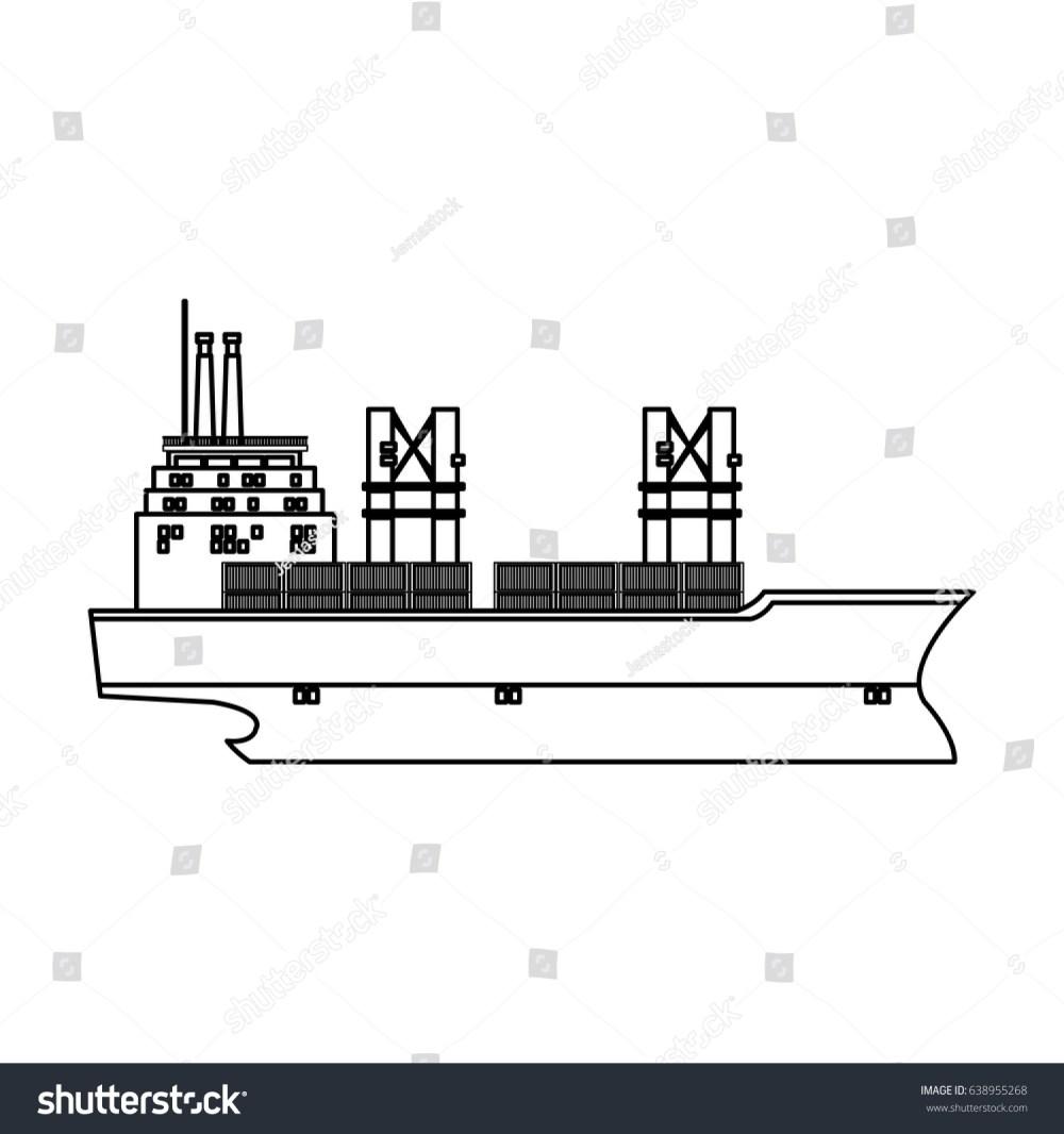 medium resolution of cargo ship containers export cranes industrial