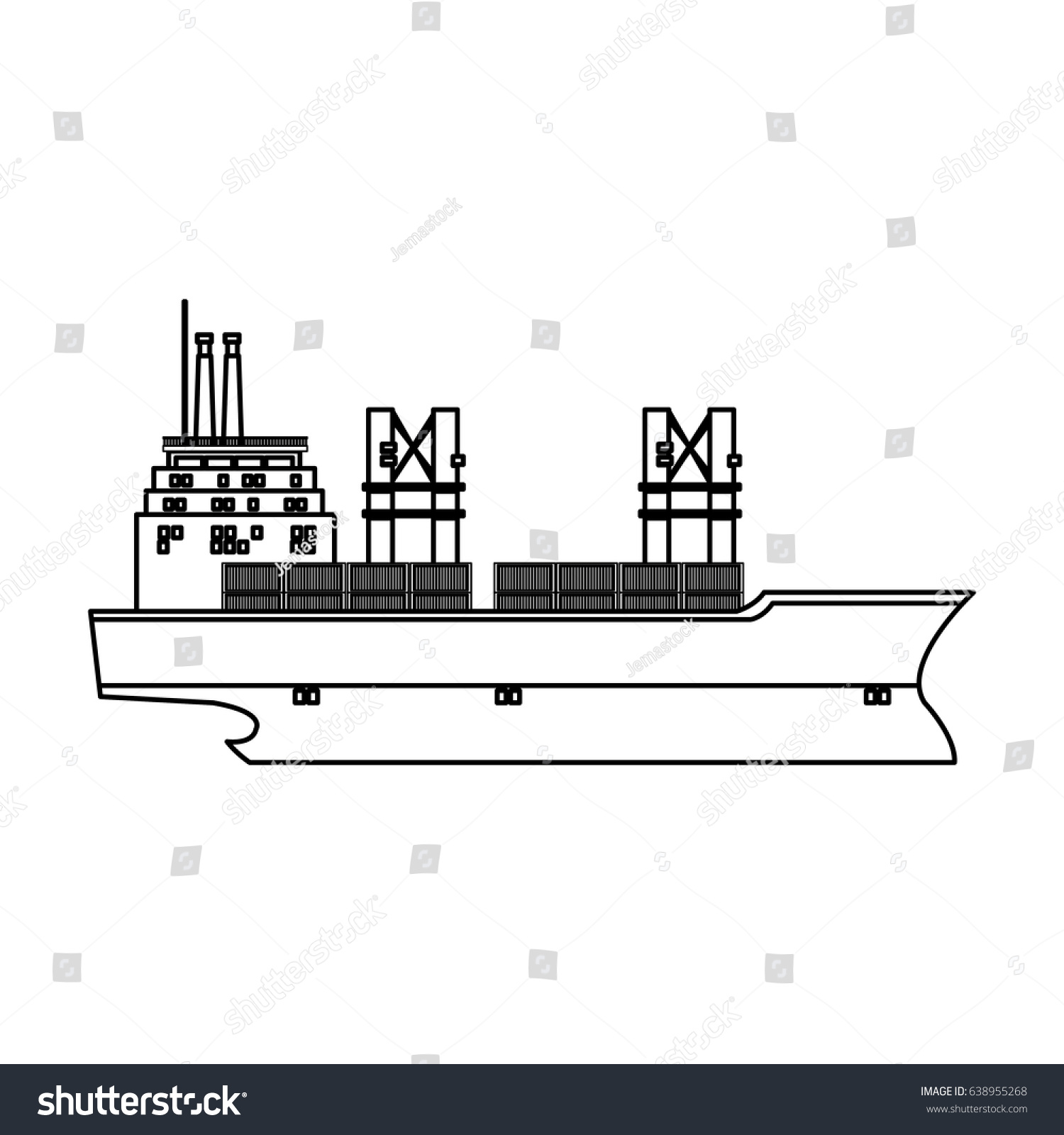 hight resolution of cargo ship containers export cranes industrial