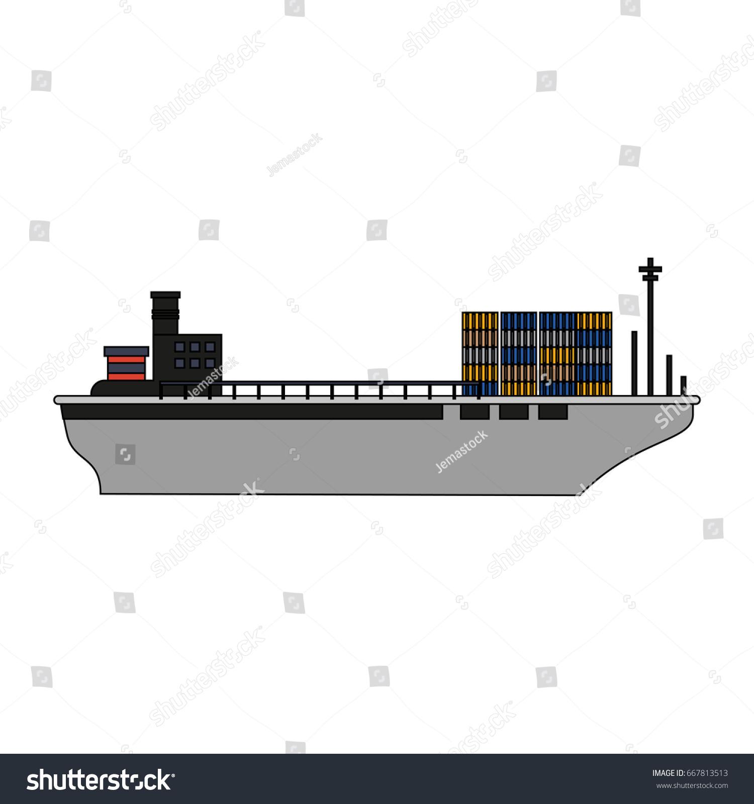 hight resolution of cargo ship design
