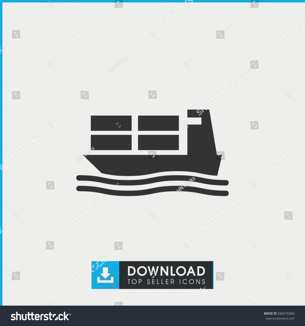 medium resolution of cargo ship icon simple filled cargo ship icon on white background