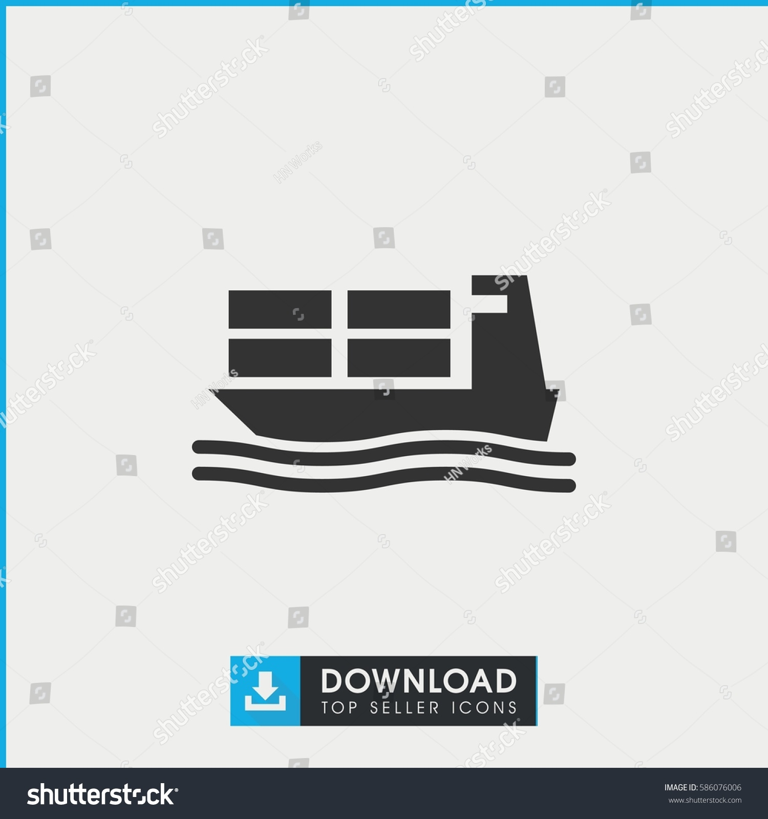 hight resolution of cargo ship icon simple filled cargo ship icon on white background