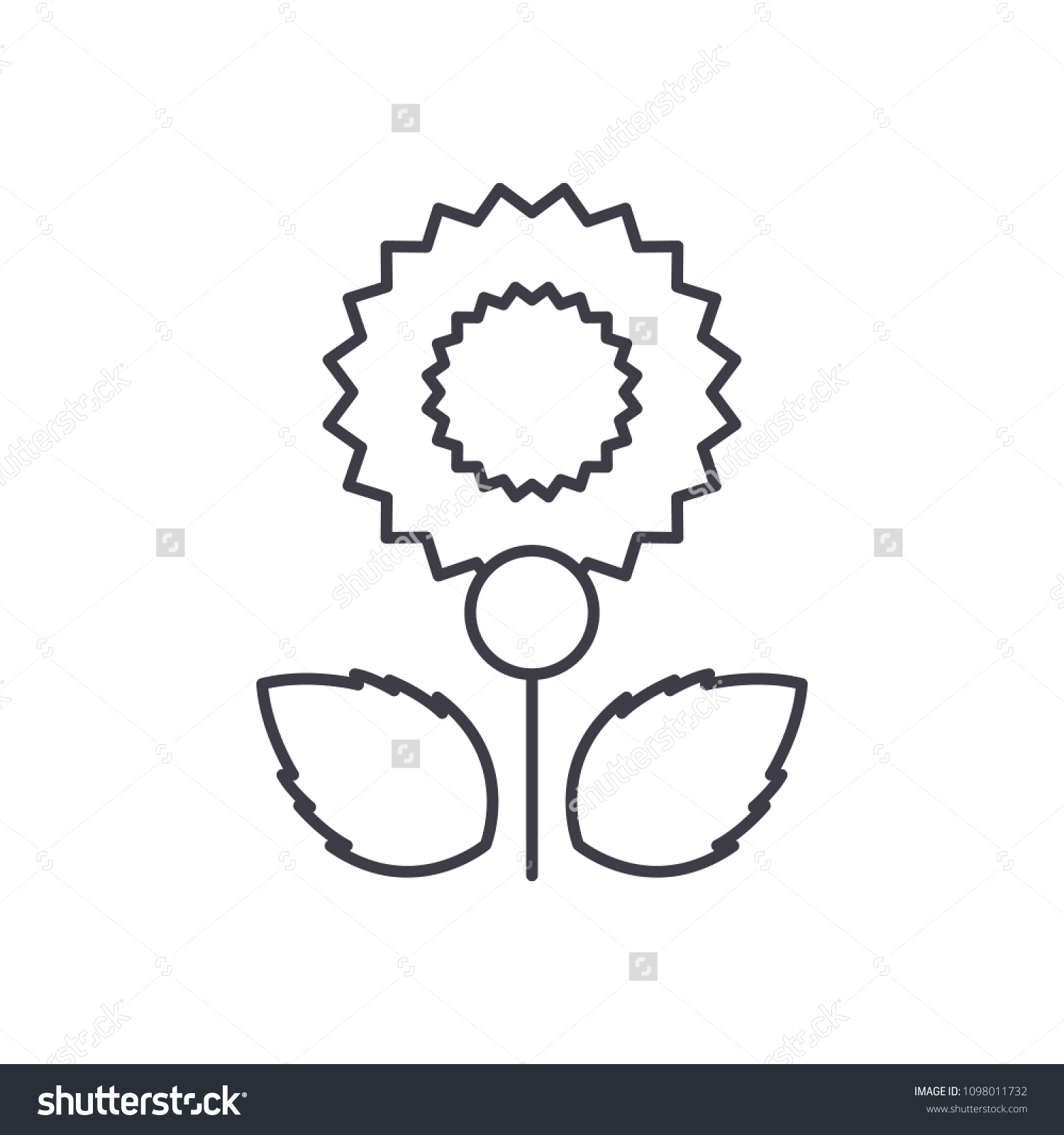 hight resolution of carnation line icon concept carnation flat vector sign symbol illustration