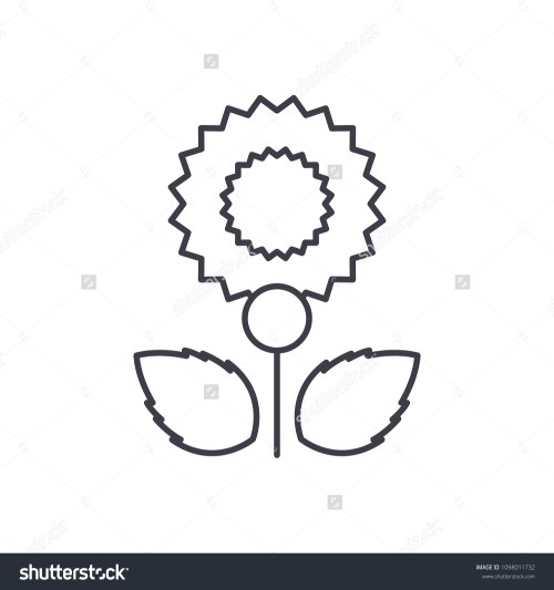 small resolution of carnation line icon concept carnation flat vector sign symbol illustration