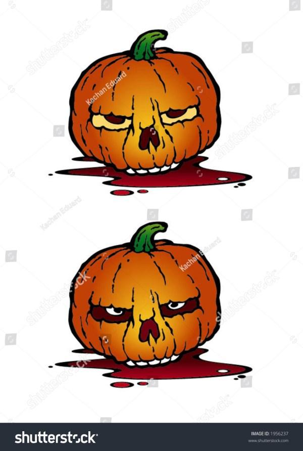cartoon illustration angry pumpkin