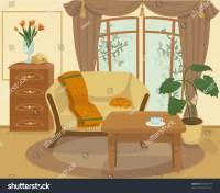 Cartoon Living Room Stock Vector 60326773 : Shutterstock