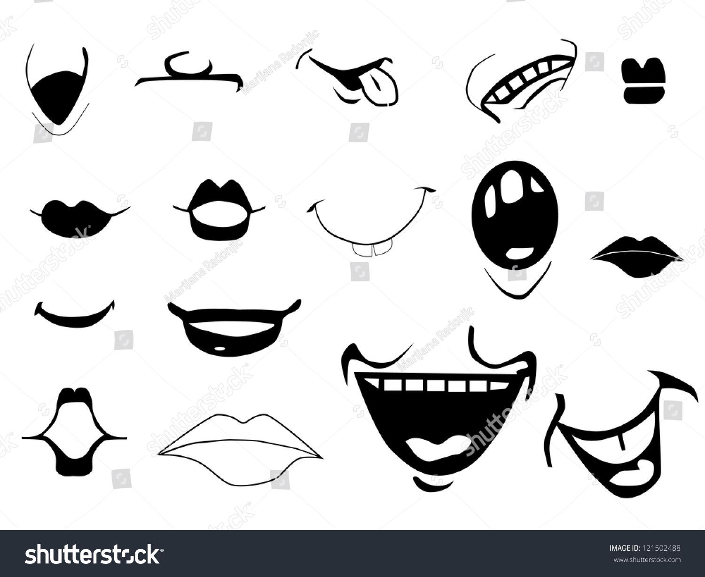 Cartoon Mouths Stock Vector Illustration