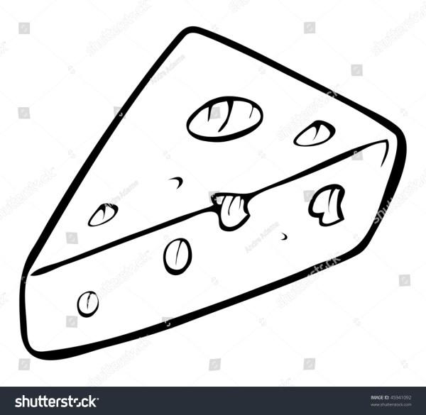 Cartoon Vector Outline Illustration Swiss Cheese Stock