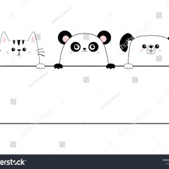 Panda Bear Diagram Voltage Free Contact Wiring Cat Dog Happy Face Stock Vector Royalty 1114880015 Head Icon Contour Silhouette Hanging On Paper Board