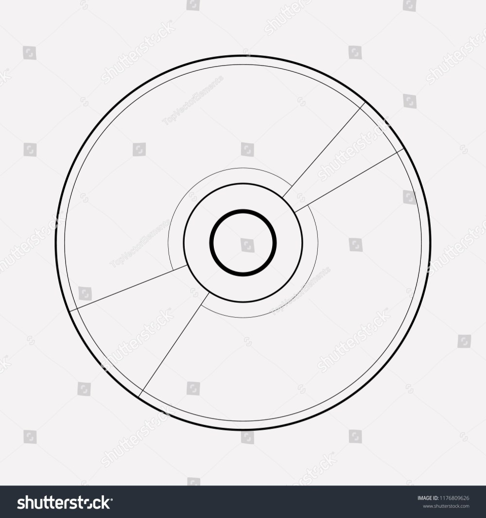 medium resolution of cd disk icon line element vector illustration of cd disk icon line isolated on clean