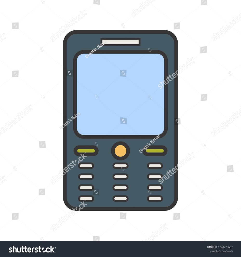 medium resolution of cell phone line filled multi color icon