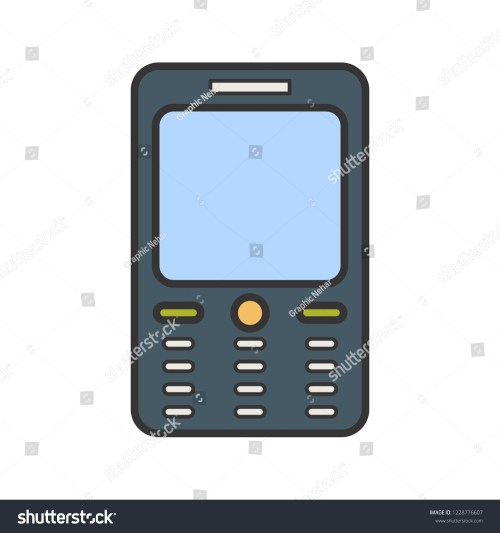 small resolution of cell phone line filled multi color icon