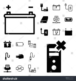 charger icon set of 20 charger filled and outline icons such as battery wire [ 1500 x 1600 Pixel ]