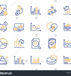 charts and diagrams line icons report 3d chart block diagram and dot plot [ 1500 x 1314 Pixel ]
