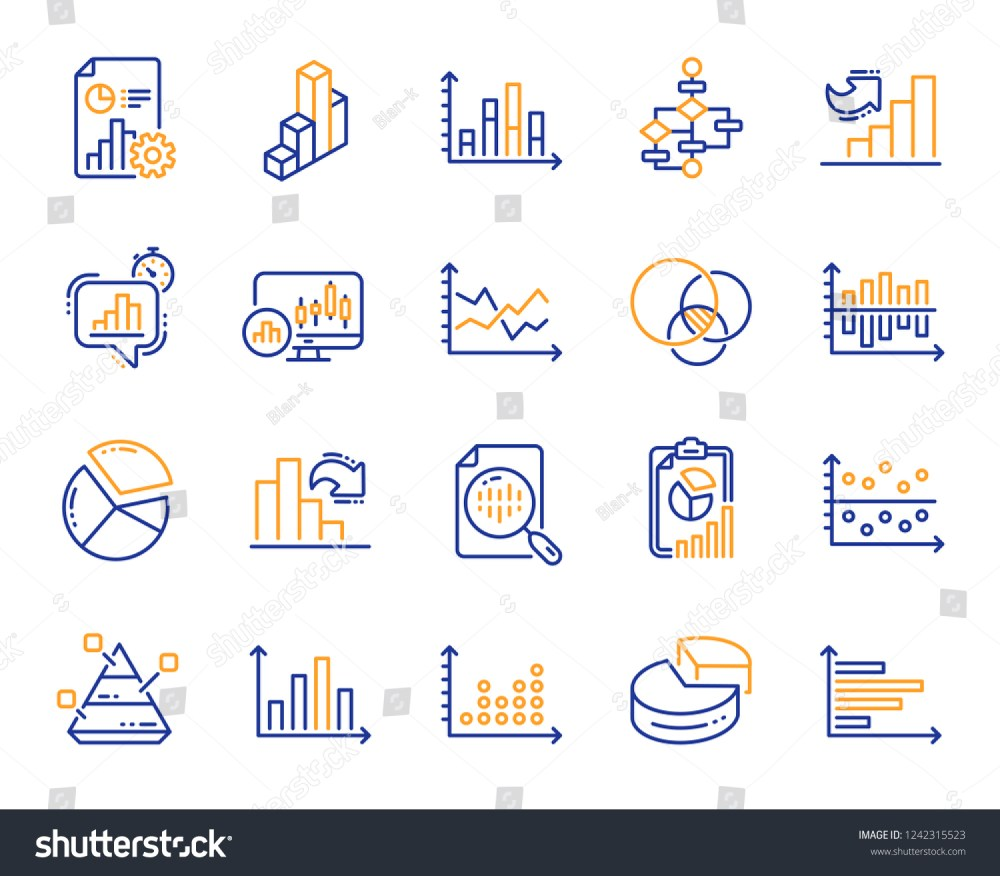 medium resolution of charts and diagrams line icons report 3d chart block diagram and dot plot