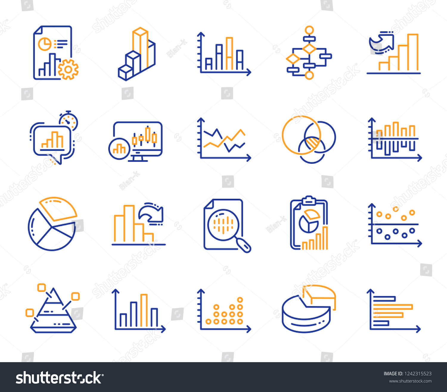 hight resolution of charts and diagrams line icons report 3d chart block diagram and dot plot