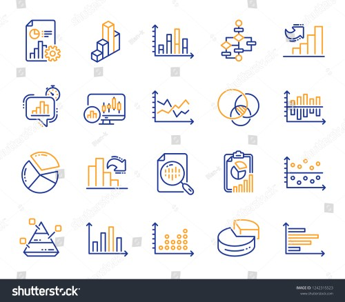 small resolution of charts and diagrams line icons report 3d chart block diagram and dot plot