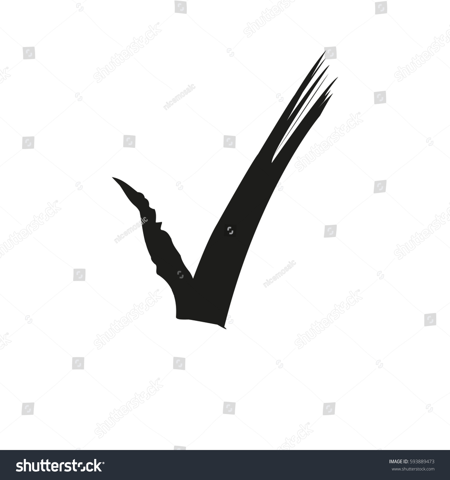 hight resolution of check mark ink drawing clipart stock vector