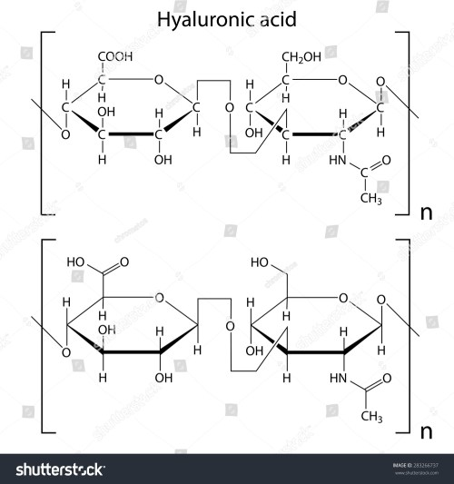 small resolution of chemical formula of hyaluronic acid molecular structure 2d isolated vector eps 8