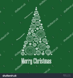 christmas card vector clipart illustration abstract snowball christmas tree  [ 1500 x 1600 Pixel ]