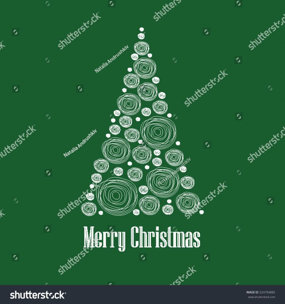 medium resolution of christmas card vector clipart illustration abstract snowball christmas tree