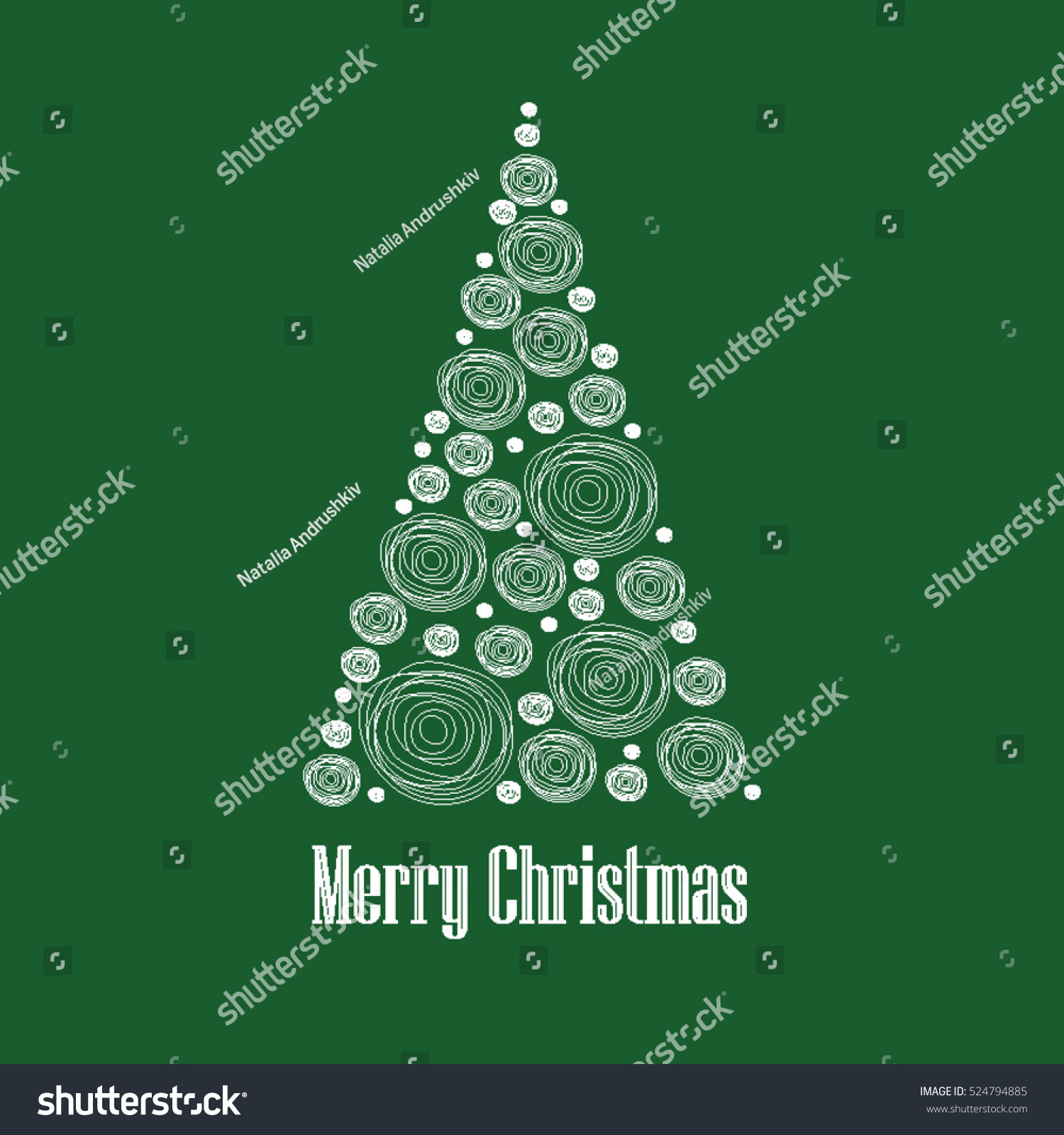 hight resolution of christmas card vector clipart illustration abstract snowball christmas tree
