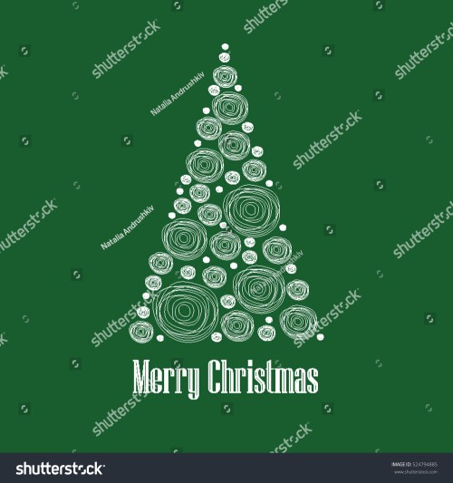 small resolution of christmas card vector clipart illustration abstract snowball christmas tree