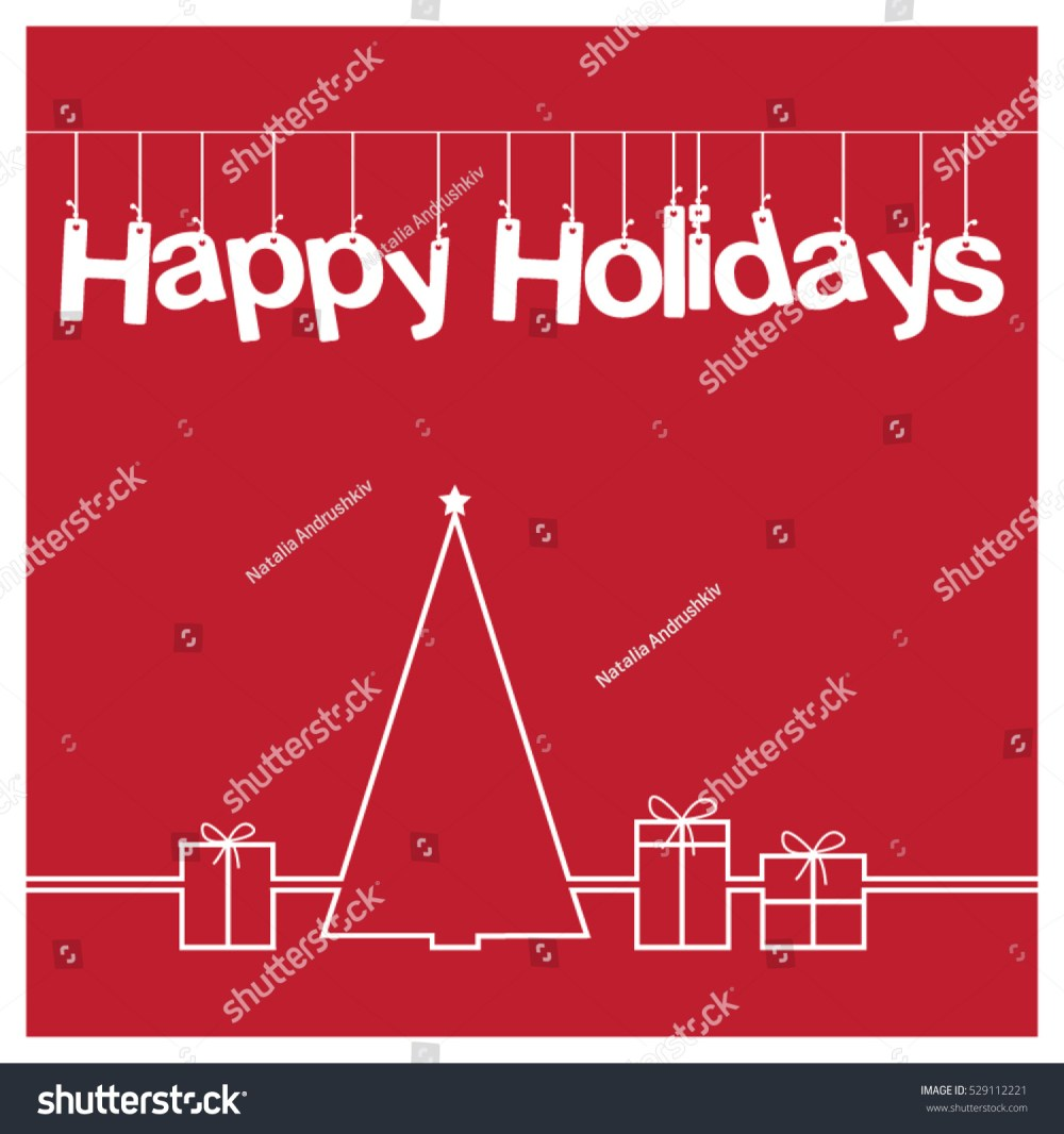 medium resolution of christmas card vector clipart illustration festive winter greeting postcard design with christmas tree and
