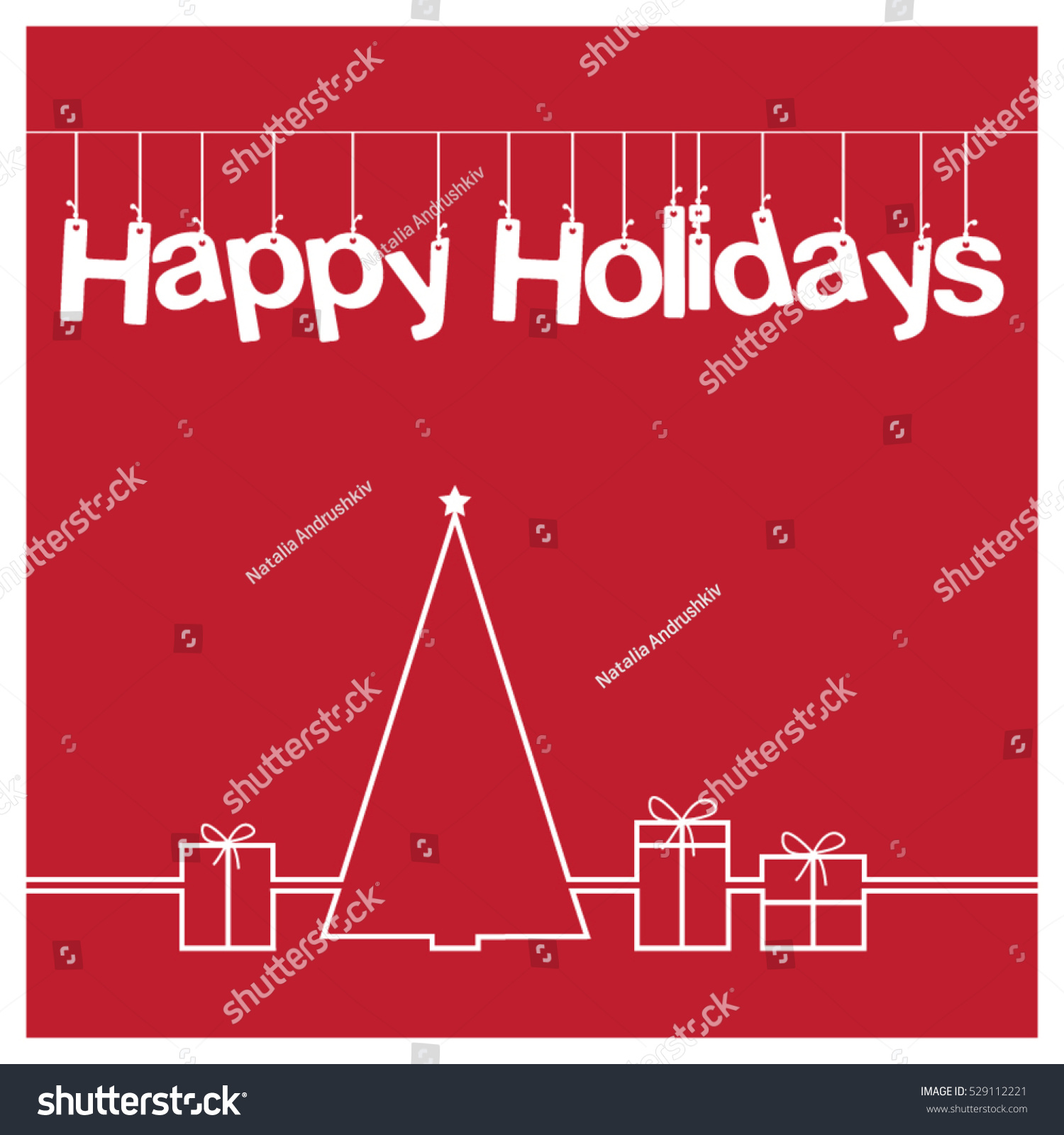 hight resolution of christmas card vector clipart illustration festive winter greeting postcard design with christmas tree and