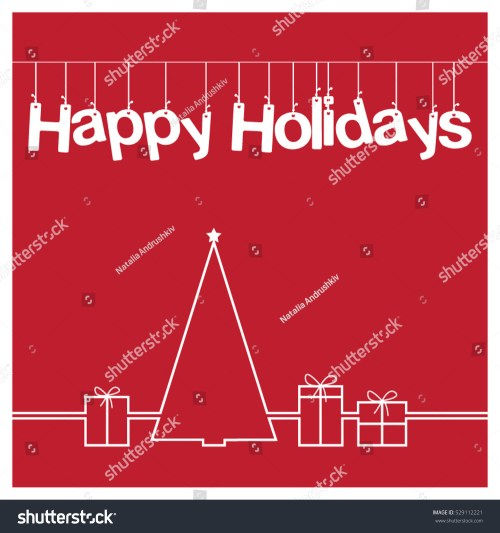 small resolution of christmas card vector clipart illustration festive winter greeting postcard design with christmas tree and
