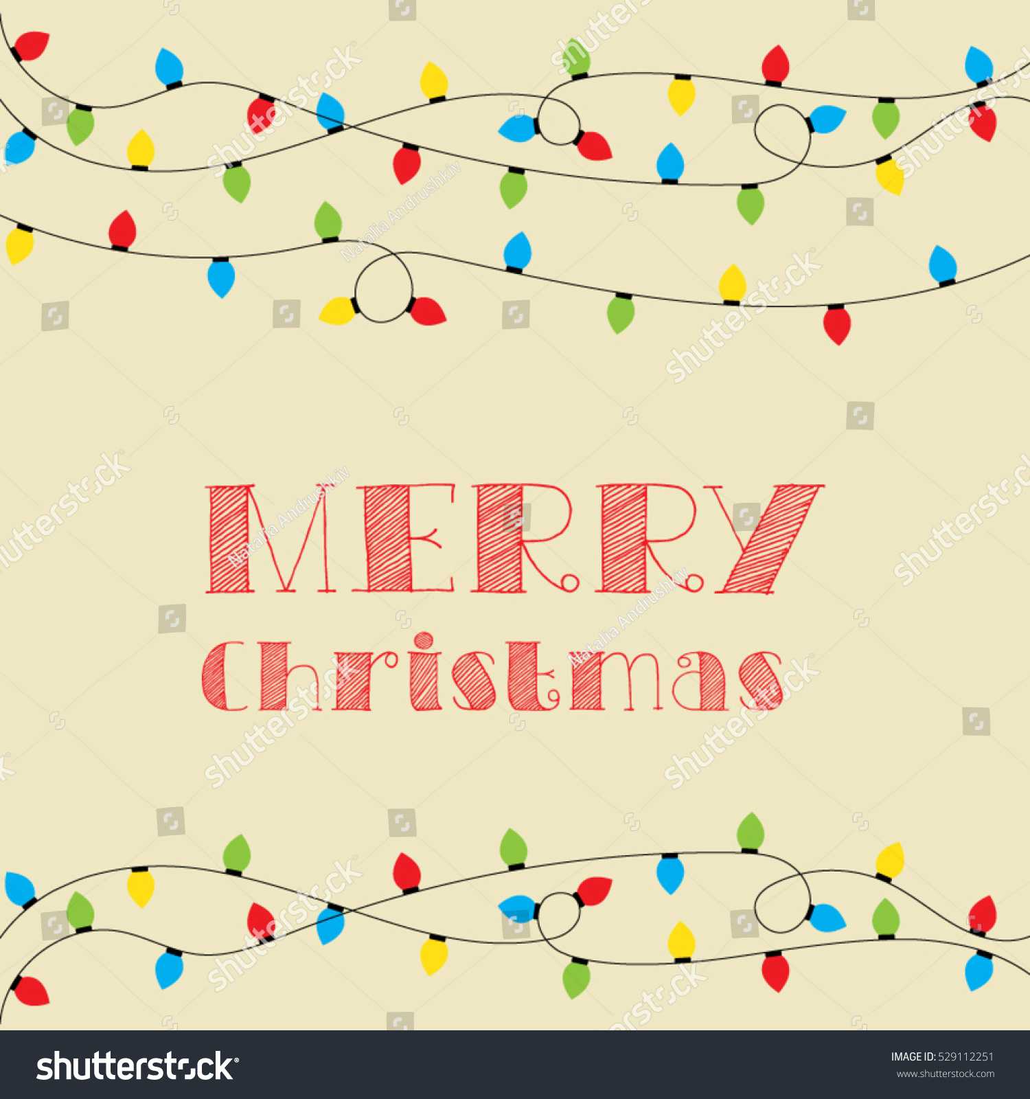 hight resolution of christmas card vector clipart illustration festive winter greeting postcard design with christmas lights and