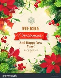 Christmas Poster Design. Vector Illustration. - 340333820 ...