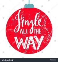 Christmas Saying Jingle All Way Postcard Stock Vector ...
