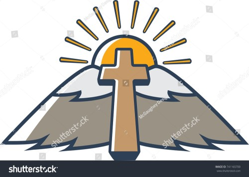 small resolution of church clipart landscape that looks like wings and halo
