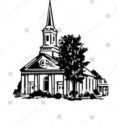 church retro clipart illustration [ 1200 x 1600 Pixel ]