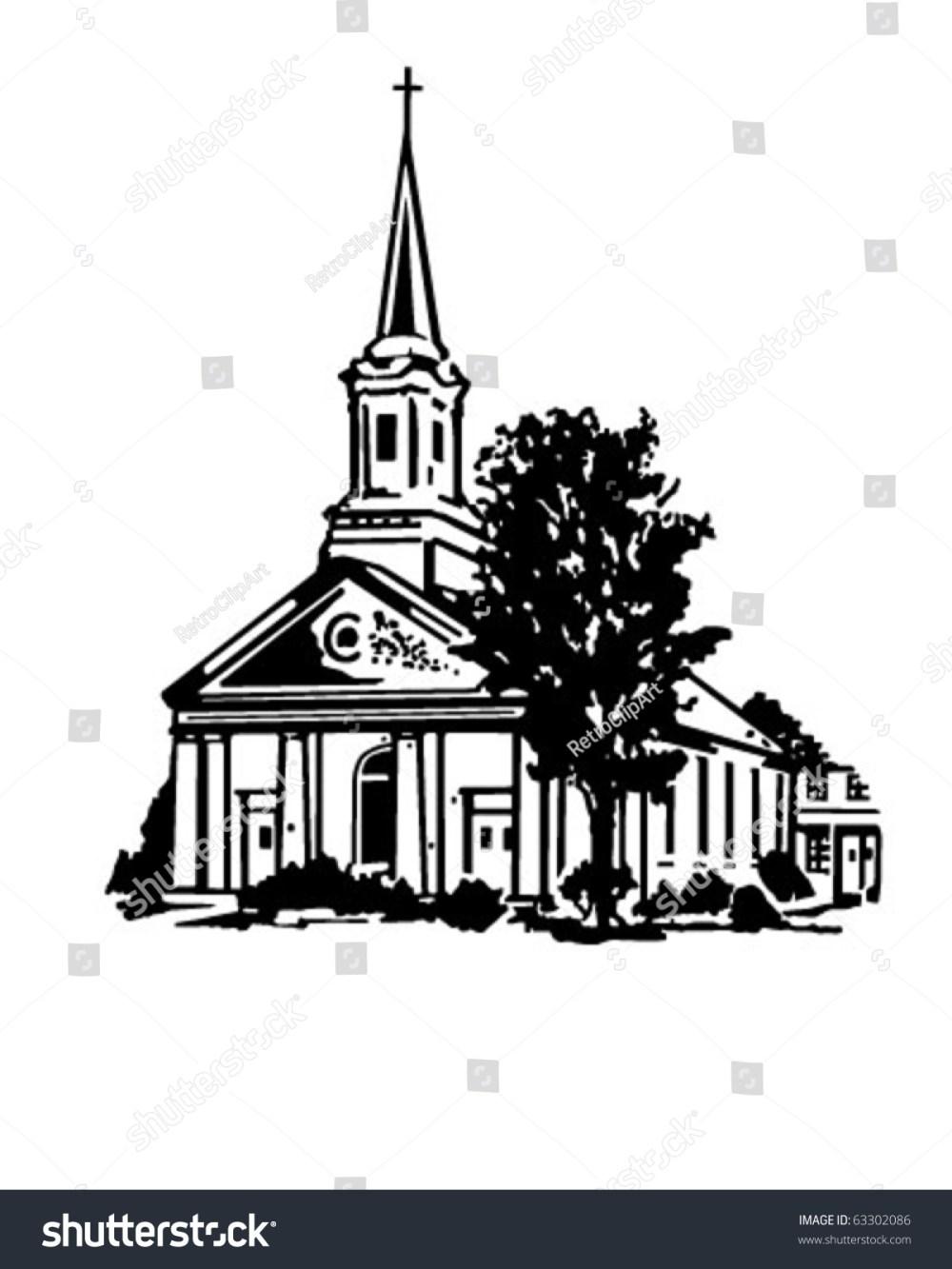 medium resolution of church retro clipart illustration