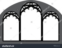 Church Stained Glass Gothic Window Vector Image ...