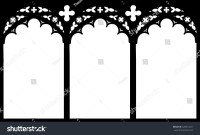 Church Stained Glass Gothic Window Vector Stock Vector ...